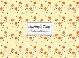 Spring seamless pattern with small orange flowers