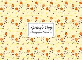 Modello senza cuciture di primavera con piccoli fiori d'arancio