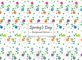 Spring seamless colorful floral pattern