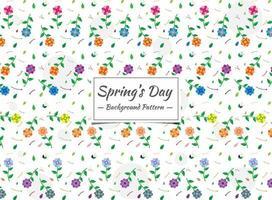 Motivo floreale colorato senza giunte di primavera