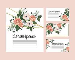 Jeu de cartes avec des roses et des fleurs