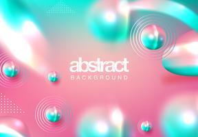 Fondo abstracto de esferas 3D