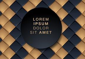 Sfondo geometrico nero e oro