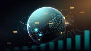 conceito futurista da rede global