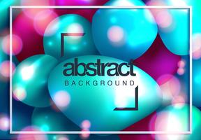 Abstract background with dynamic 3d spheres vector