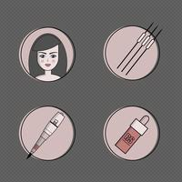Equipment for permanent make-up icon set