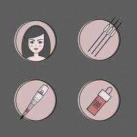 Equipo para conjunto de iconos de maquillaje permanente