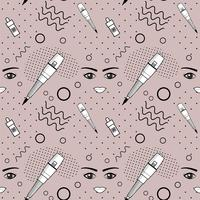 Seamless pattern of equipment for permanent make-up