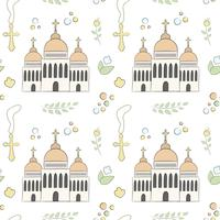 Seamless pattern of Christening