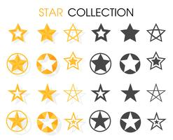 Star icon Various shapes For rewarding ratings. vector