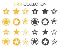 Star icon Various shapes For rewarding ratings.