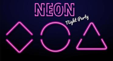 Kleurrijke neonlichtberichtvakken die bij nachtpartijen verlichten.