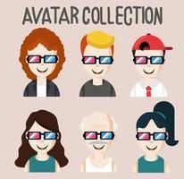 Avatar Menschen mit Brille Sammlung