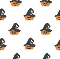 halloween pumpkin wearing witch hat pattern