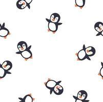 Pinguin Emotion Gesicht nahtlose Muster