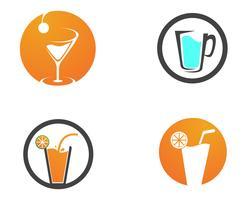 Conjunto de elementos de bebidas
