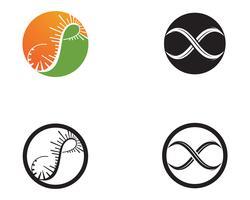 vecteur d'icônes modèle et symbole infini