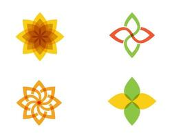 fleur icône vector illustration ensemble