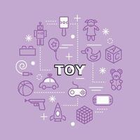 iconos de contorno mínimo de juguete