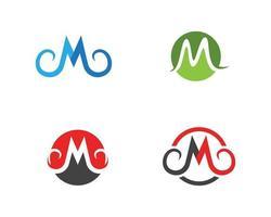 Conjunto de negócios de logotipo de letra M