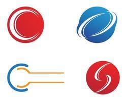 Conjunto de vector de plantilla de logotipo de letra C