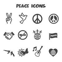 símbolo de los iconos de paz