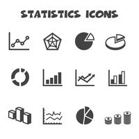 símbolo de los iconos de estadísticas
