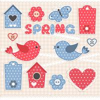 Spring, scrapbook elements