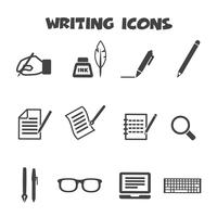 writing icons symbol vector