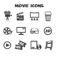movie icons symbol vector