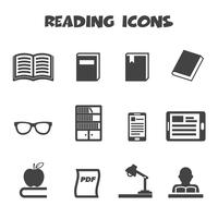 reading icons symbol vector