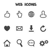 símbolo de iconos web