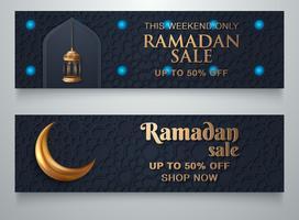 Modelo de banner de venda do Ramadã