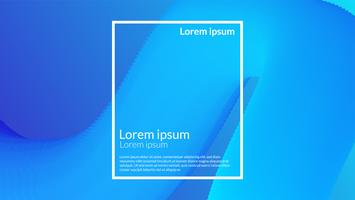 Blend gradient moving blue modern background  vector