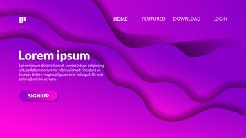 Modern gradient violet wave paper cutout background