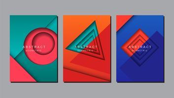 Projeto de layout geométrico abstrato vetor