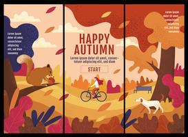 Happy Autumn Banner Design vector