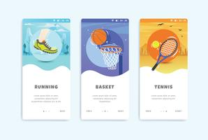 Sport Onboarding Screen User Interface Kit