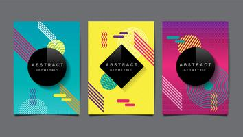 Abstract geometric layout design vector
