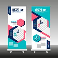Roll Up Banner Stand Design with Abstract Geometric