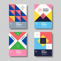 conception de la couverture de livre d'affaires coloré vecteur
