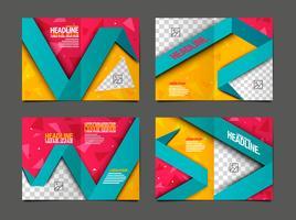 Banner-Design-Vorlage mit bunten geometrischen Hintergrund