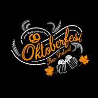 Oktoberfest hand drawn vector lettering and beer glass