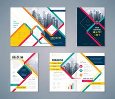 Abstract Cover Book Design Set