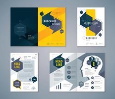 Blau und Orange Cover Book Design Set