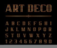 Art Deco font and alphabet