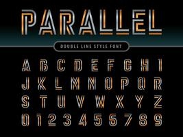 Parallel Lines Alphabet Letters and numbers