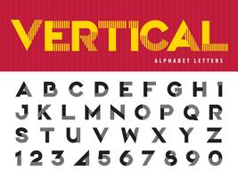 Vertical Lines Alphabet Letters and numbers