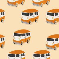 motif fourgonnette orange