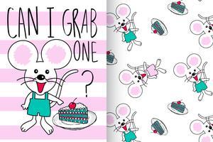Leuke muis kan ik één citaat met patroonreeks grijpen